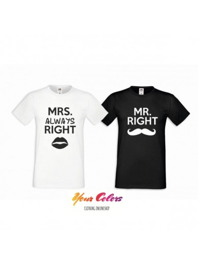 T-SHIRTS FÜR PAARE 2ST. MRS & MR RIGHT