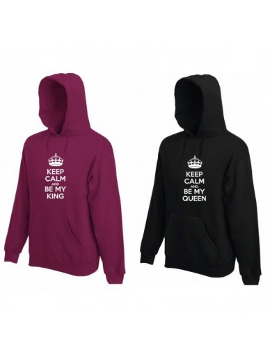 KAPUZENPULLOVER FÜR PAARE 2ST. BE MY KING & BE MY QUEEN