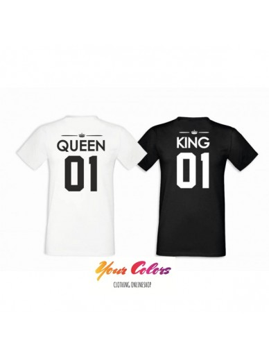 T-SHIRTS FÜR PAARE 2ST. QUEEN&KING