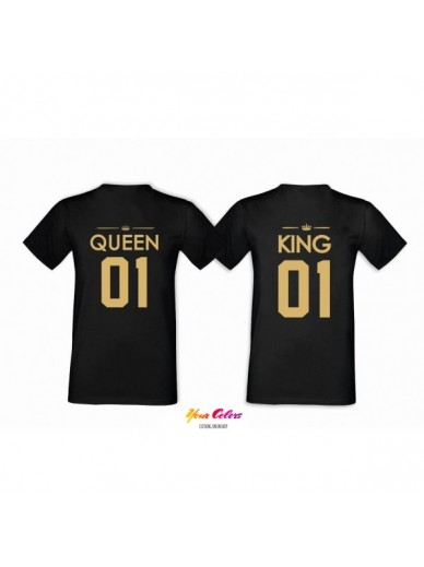 T-SHIRTS FÜR PAARE 2ST. QUEEN&KING COLOR