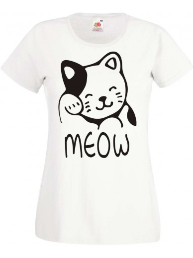 T-Shirt Lady Fit  Meow